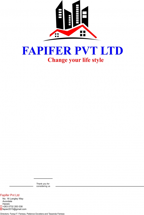 fapifer construction  pvt  ltd  kwekwe  zimbabwe