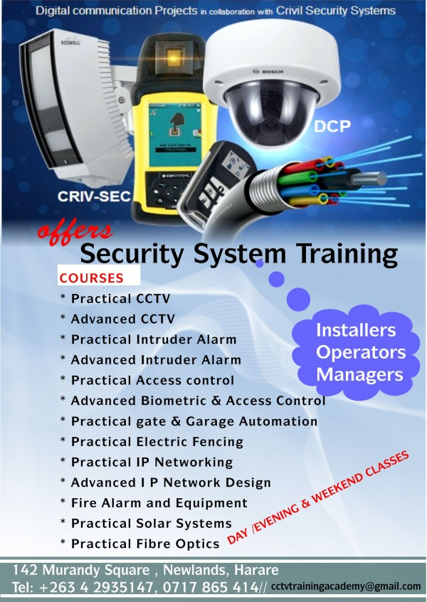 Electronic Security Systems Technical Training Harare